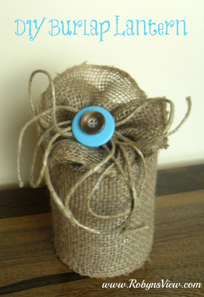 Tin Can Crafts – DIY Burlap Lantern From An Upcycled Tin Can